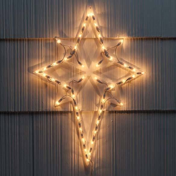 LIGHTED NATIVITY STAR OF BETHLEHEM CHRISTMAS DECORATION - Brand New in Box