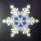 Lighted Snowflake Christmas window decoration  light up 34 white & blue lights