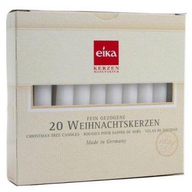 Eika Kerzen.Eika Kerzen White Chime Candles Christmas Tree 4 Inch X Half