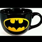 DC Comics Black Batman Logo 24 oz Ceramic Coffee or Soup Mug