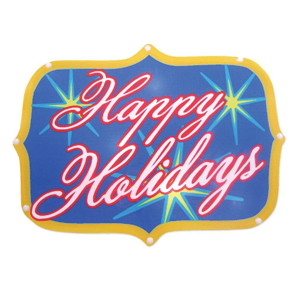 Brite Star Seasons Greetings Sign 20 LED Light Show Battery Powered!