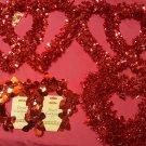 Valentine Party Bundle Tinsel Hearts, Cupid Cutouts, Garland Cupcake Baking Cups