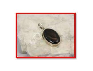 Black onyx pendant in .925 silver