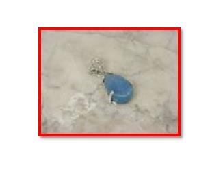 Blue druzy pendant in .925 silver