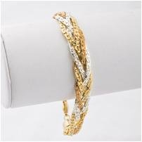 14KT gold HGE luscious multi-strand weave bracelet