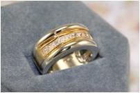 14K WGP 2CT Graceful Glowing Diamond Simulated Ring, Size 6 (fr-11)
