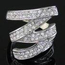 Genuine Swarovski crystal ring, size 8 (fr-24)