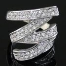 GENUINE SWAROVSKI CRYSTAL RING, size 6 (fr-24)