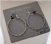 Wreath Style .925 Sterling Silver Hoop Earrings by Beau (ser-4)