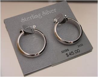 Classic .925 Sterling Silver Hoop Earrings by Beau (ser-5)