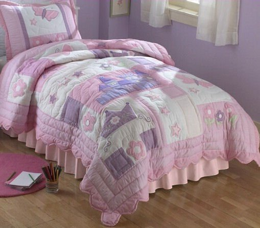 5PC Purple Princess TWIN Quilt Bedding QS1485TW