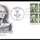 ARTMASTER - 1954 George Washington (#1031) FDC - PB UA