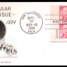 FLEETWOOD - 1954 Thomas Jefferson (#1033) FDC - PB UA