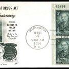 FLEETWOOD - 1956 Pure Food Drug Act (#1080) FDC - PB UA