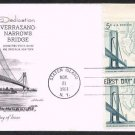 ARTMASTER - 1964 Verrazano Narrows Bridge (#1258) FDC - PB UA