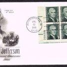 ART CRAFT - 1968 Thomas Jefferson (#1278) FDC - PB6 UA