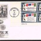 ART CRAFT - 1966 Sixth International Philatelic Exhibition (#1310) FDC - PB UA