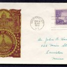 L. W. STAEHLE - 1941 Vermont Statehood (#903) FDC