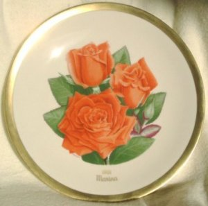 1981 American Rose Society All-American Rose Plate - MARINA