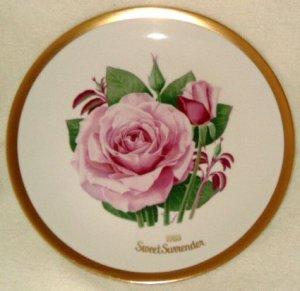 1983 American Rose Society All-American Rose Plate - SWEET SURRENDER