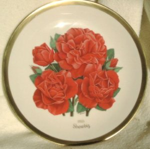 1985 American Rose Society All-American Rose Plate - SHOWBIZ
