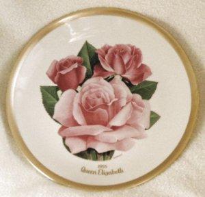 1985 American Rose Society All-American Rose Plate - QUEEN ELIZABETH