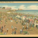 1930s Atlantic City, New Jersey - Boardwalk & Beach - LINEN Postcard