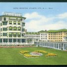 1940s Atlantic City, New Jersey - Hotel Brighton - LINEN Postcard
