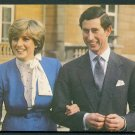 1981 Royal Wedding Postcard - PRINCE CHARLES and LADY DIANA