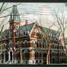 1910 ALBANY, NEW YORK High School - Color Postcard - Used