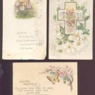 1911-22 Vintage Easter Postcards (3) - all with flowers - Used
