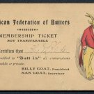 AMERICAN FEDERATION OF BUTTERS - Humorous Vintage Postcard