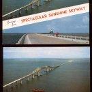 1950s SUNSHINE SKYWAY Bridge, Tampa Bay, St. Petersburg, FLORIDA Postcards (2)