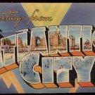 1940s/1950s LINEN Souvenir Folder of ATLANTIC CITY, New Jersey
