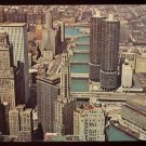 1964 CHICAGO, Illinois Postcard - MARINA CITY TOWERS Aerial View