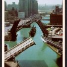 1950s CHICAGO, Illinois Postcard - Chicago River Bridges