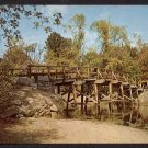 1970 CONCORD, Massachusetts Postcard - Old North Bridge - American Revolution Bicentennial