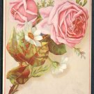 GRANDMA'S COFFEE Victorian Trade Card - Roses and Daisies