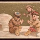 MARCELLENI / CADEAU / PANET French Goods - Victorian Trade Card - Igloos and Eskimos (?)