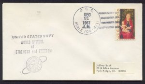 1967 US Navy Ship Cover - USS BEALE (DD-471) - Cacheted