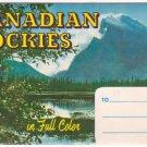 1950s CANADIAN ROCKIES - Full Color Souvenir Folder/Mailer