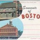 1950s BOSTON, MASSACHUSETTS - Full Color Souvenir Folder/Mailer