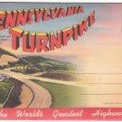 "1950s PENNSYLVANIA TURNPIKE - ""The World's Greatest Highway"" - Illustrated Souvenir Folder/Mailer"