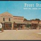 Front Street, BOOT HILL, Dodge City, Kansas - Unused Post Card