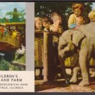 1950s BROOKFIELD ZOO, Chicago, Illinois - Children's Zoo and Farm - Unused Postcard