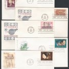 1970s - 10 Different HOUSE OF FARNAM Cacheted FDCs - All UA
