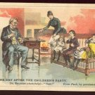 """Victorian Trade Card - Arbuckle Brothers Coffee Company - """"THE DAY AFTER THE CHILDREN'S PARTY"""" (#10)"""