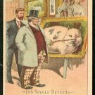 """Victorian Trade Card - Arbuckle Brothers Coffee Company - """"IT'S SINGLE DEFECT"""" (#56)"""