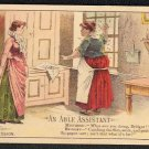 """Victorian Trade Card - Arbuckle Brothers Coffee Company - """"AN ABLE ASSISTANT"""" (#62)"""