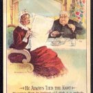 "Victorian Trade Card - Arbuckle Brothers Coffee Company - ""HE ALWAYS TIED THE KNOT"" (#91)"